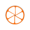 6 Spoke Neon Orange